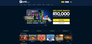 image of punt casino lobby top SA online casino