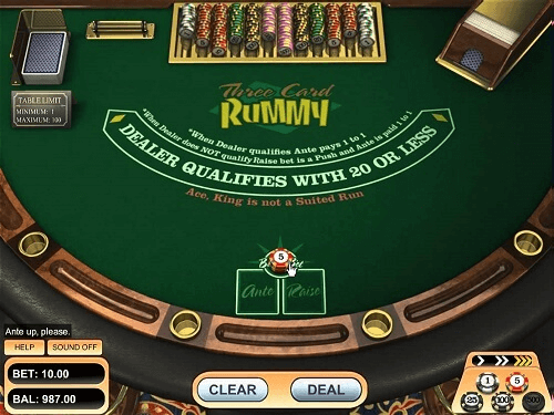 image of online 3 card rummy online casino