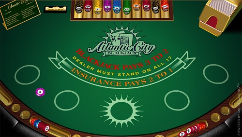 image of atlantic city blackjack online game