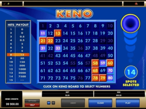online keno rules history of keno