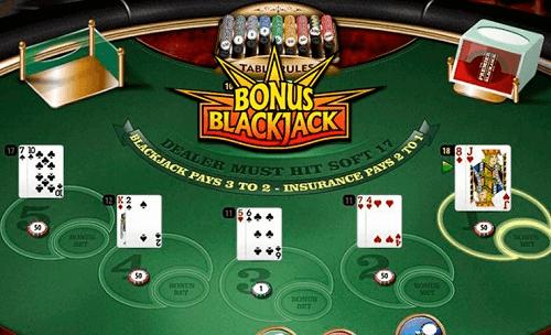 image of bonus blackjack table