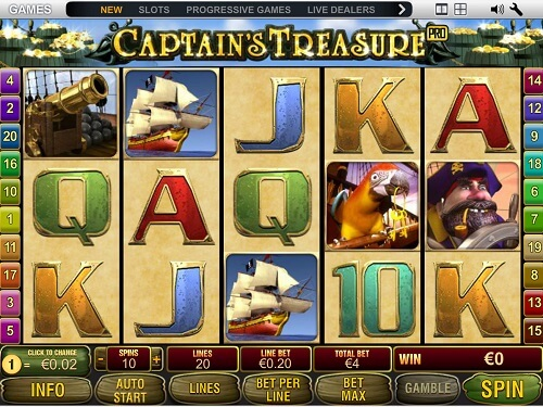 image of captain's treasure slot game review