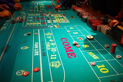image of craps table at casino