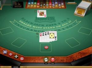 online european blackjack table