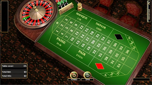 image of french roulette online table