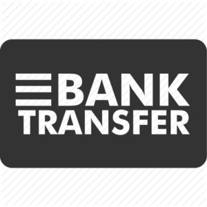 icon of bank transfer online casino banking