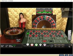 image of live dealer roulette table online casino live dealer