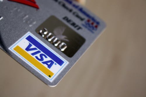 image of visa card online casino banking