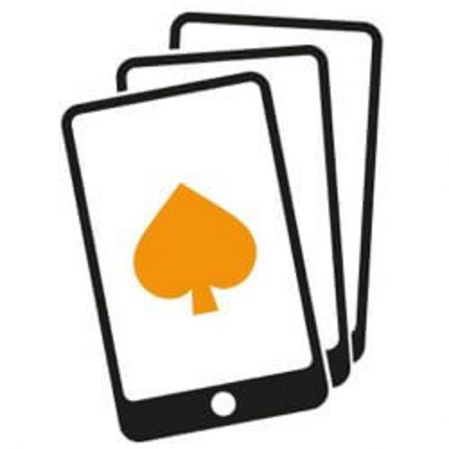 image of cellphone with spade mobile casinos