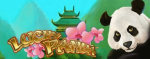 lucky panda slot game title image
