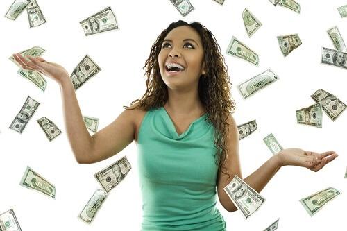 money falling on woman best casino bonus SA