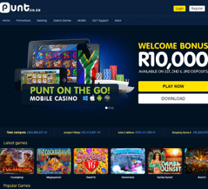 punt casino lobby top SA online casinos review