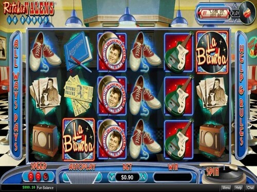 image of Ritchie Valens La Bamba slot game reels