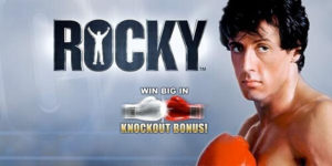 rocky online slot game title image