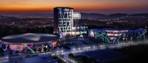 sun international time square casino at dusk