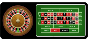 image of american roulette table