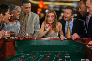 image of people at craps table online craps
