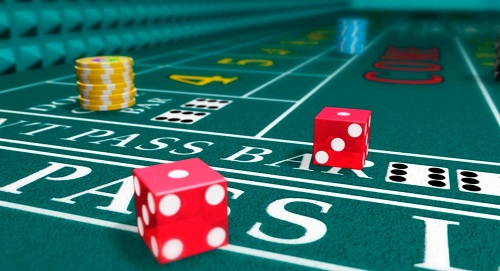 online craps table with dice