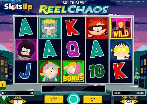image of south park: reel chaos slot game reels