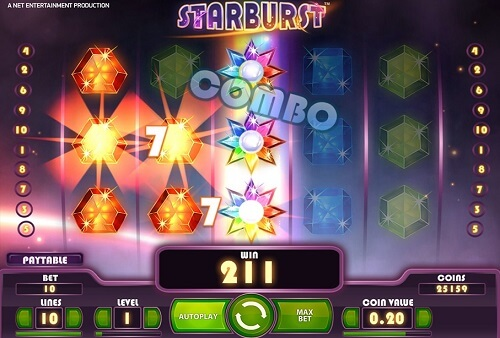 image of starburst slot game screenshot of reels