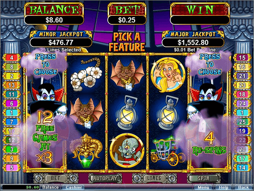 image of count spectacular slot game reels top rtg game