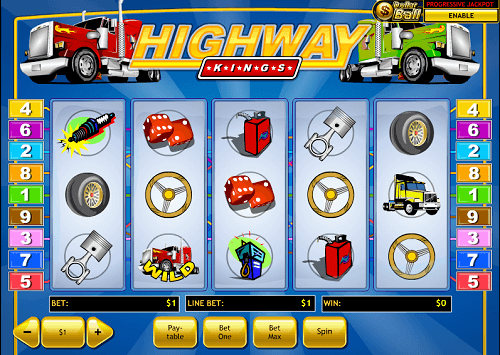 image of highway kings slot game