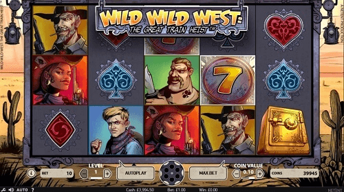 image of wild wild west slot reels