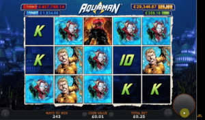 aquaman slot game reels