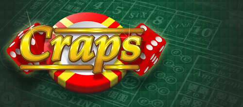 free craps text with casino chip and dice