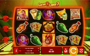lucha libre 2 slot game reels