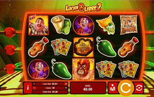 lucha libre 2 slot game reels