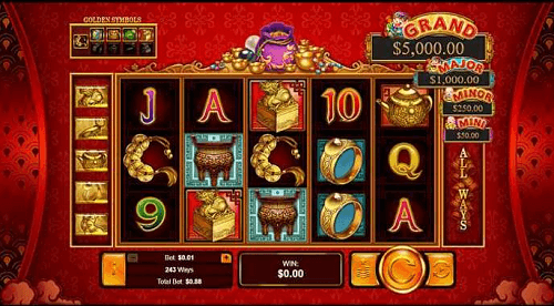 plentiful treasure realtime gaming slot game reels