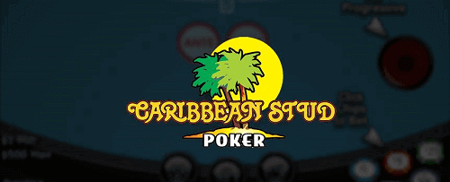 caribbean stud poker logo with palm trees and the Sun