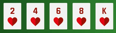 a flush poker hand