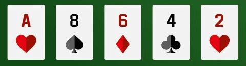 a high card pair hand