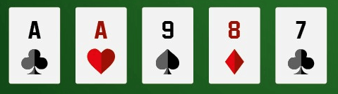 a one pair poker hand