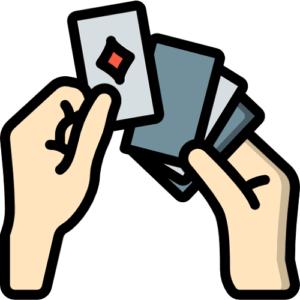 hands dealing poker cards