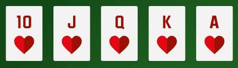 poker rules a royal flush cards
