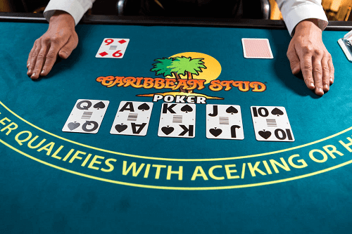 how to play Caribbean stud poker live table