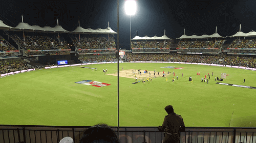 cricket match at stadium