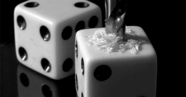 drilling a dice