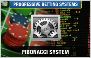 fibonacci betting system with gears and casino chips