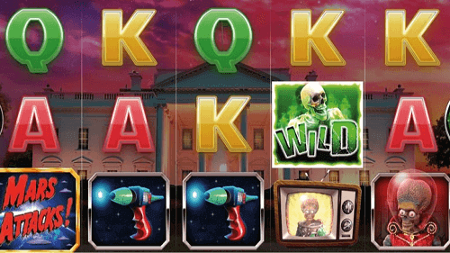 mars attacks slot game reels
