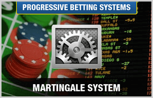 martingale betting system with gears and casino chips