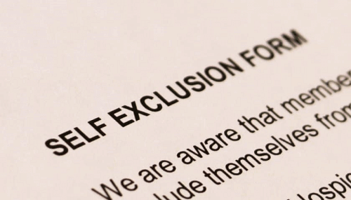 self-exclusion form