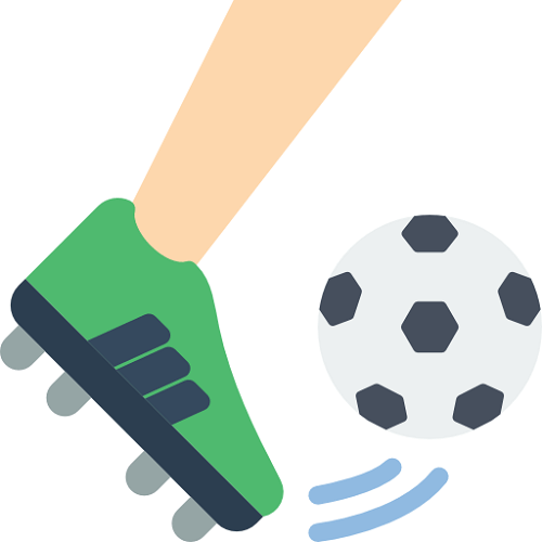 soccer ball being kicked by a player's foot in green boots