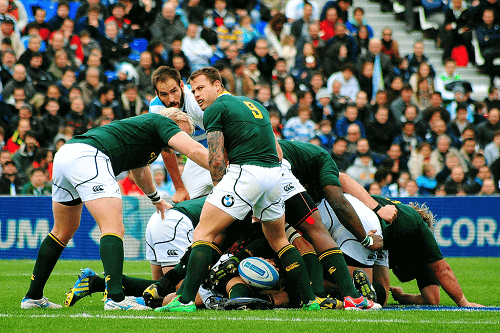 south african rugby team in a scrum
