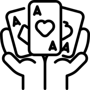 hands holding aces online poker