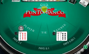 online punto banco baccarat table